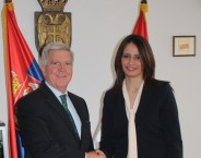 Minister Kuburović and Ambassador Scott discuss further cooperation in the field of judiciary